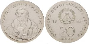 20 Mark Münze Martin Luther