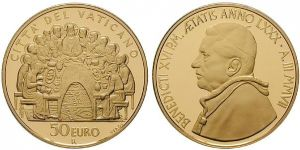 50 Euro Goldmünze Eucharistie 2007