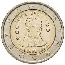 2 Euro Münze Louis Braille
