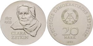 20 Mark Münze Clara Zetkin