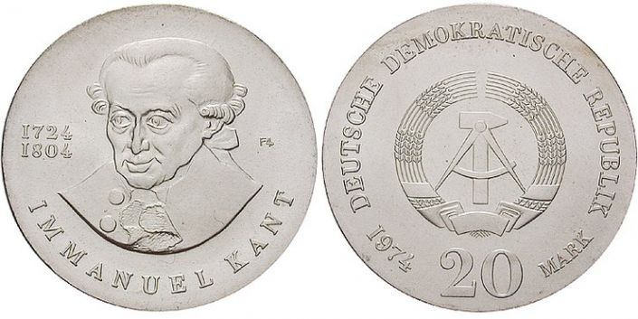 20 Mark Münze Immanuel Kant