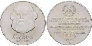 20 Mark Münze Karl Marx 1983