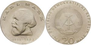 20 Mark Münze Karl Marx 1968