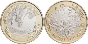 5 Euro Münze Winter Finnland 2012