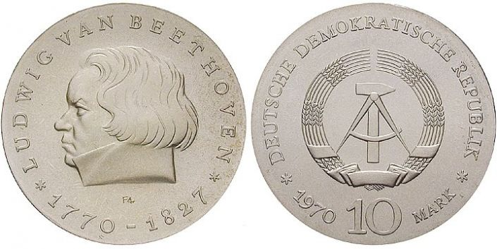 10 Mark Münze Beethoven 1970