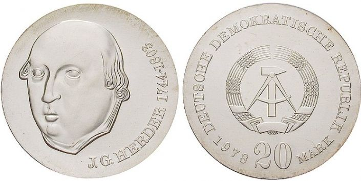 20 Mark Münze 175 Todestag Johann Gottfried Herder Ddr