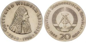 20 Mark Münze Gottfried Wilhelm Leibniz