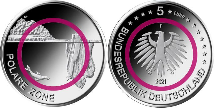 5 Euro Münze Polare Zone 2021