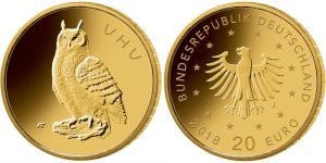 20 Euro Goldmünze Uhu