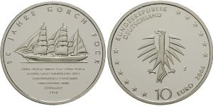 10 Euro Münze Gorch Fock