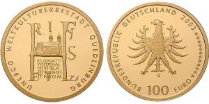 100 Euro Goldmünze Quedlinburg 2003