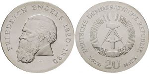 20 Mark Münze Friedrich Engels