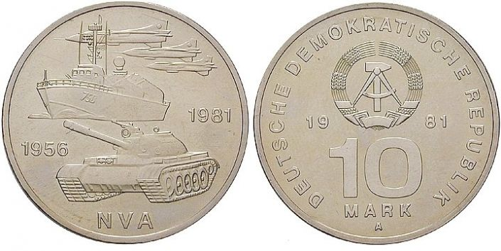 10 Mark Münze NVA 1981