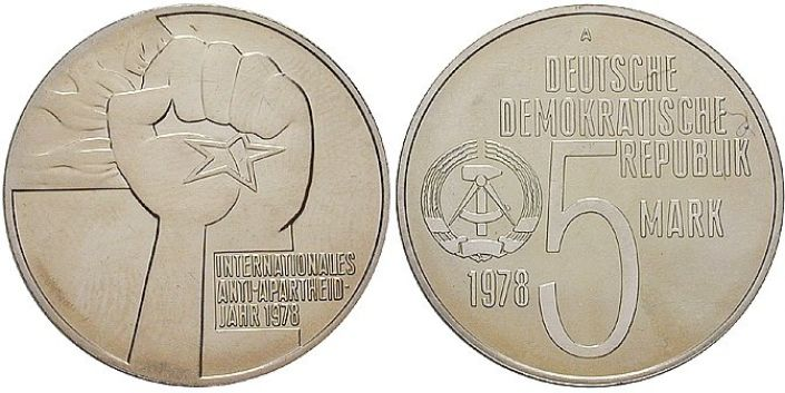 5 Mark Münze Apartheid 1978