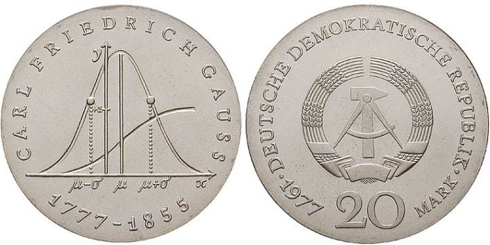 20 Mark Münze Carl Friedrich Gauss
