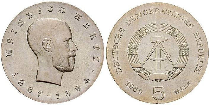 5 Mark Münze Heinrich Hertz