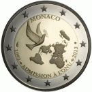 2 Euro Münze Vereinte Nationen Monaco