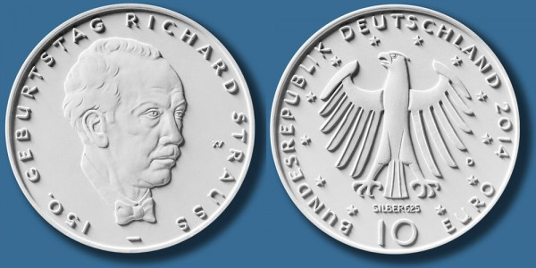 10 EuroMünze Richard Strauss