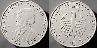 10 Euro Münze Richard Wagner