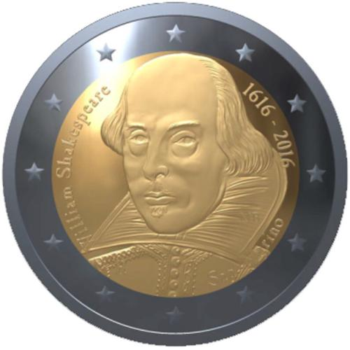2 Euro 400 Todestag William Shakespeare